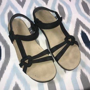 Teva Black Ventura Cork Sandals
